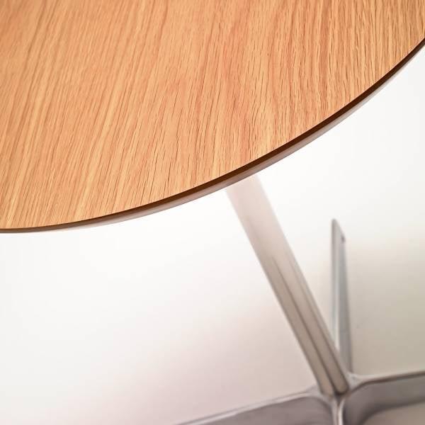 Mesa de Apoio Space III Estrutura em Aço Inox Artesian Design by Arne Jacobsen e Piet Hien