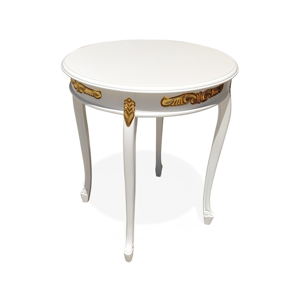mesa de canto provençal branco com dourado