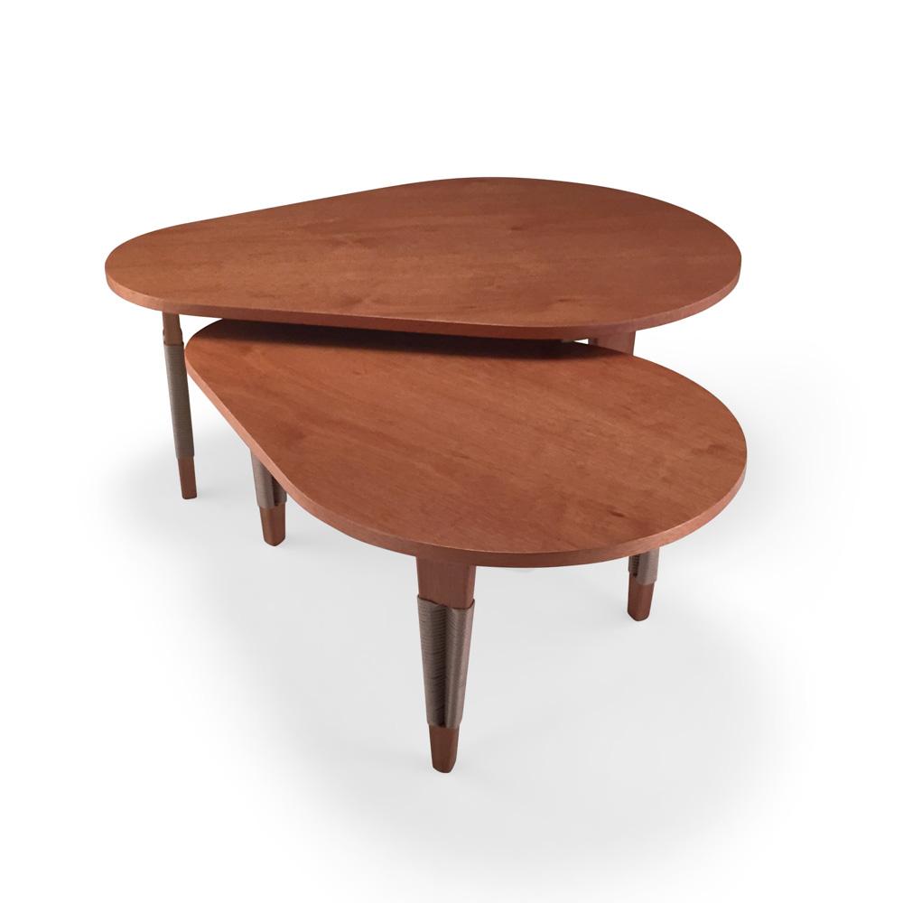 Mesa de Centro Elon Oval Corda Náutica Madeira Eucalipto Design by Studio Ozki