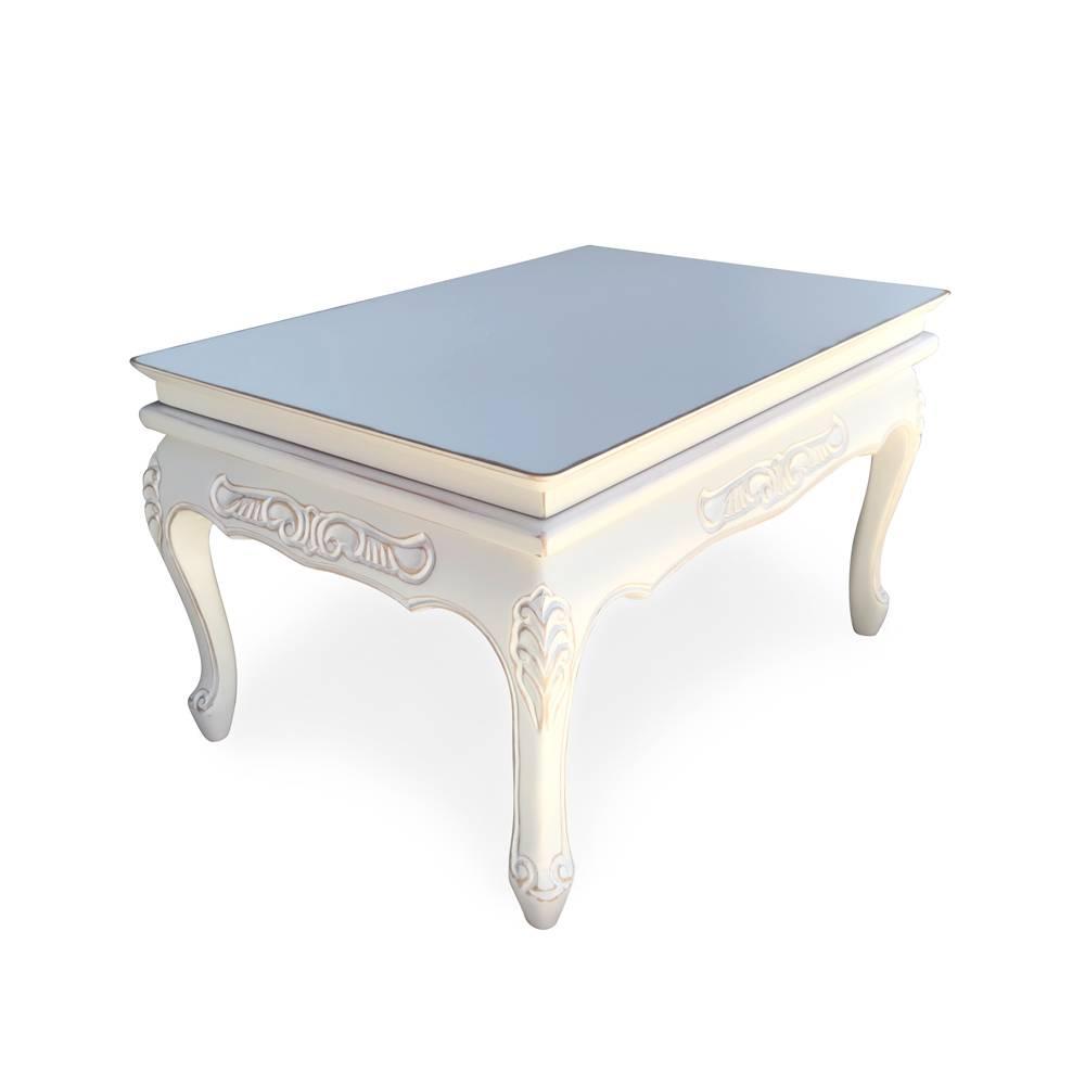 Mesa de Centro Florença Entalhada em Madeira com Pinturas Especiais