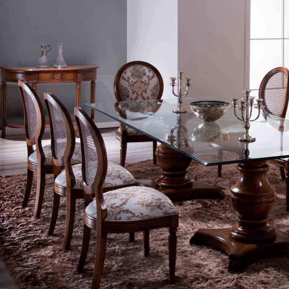 Mesa de Jantar Ellos Madeira Maciça Design Clássico Avi Móveis