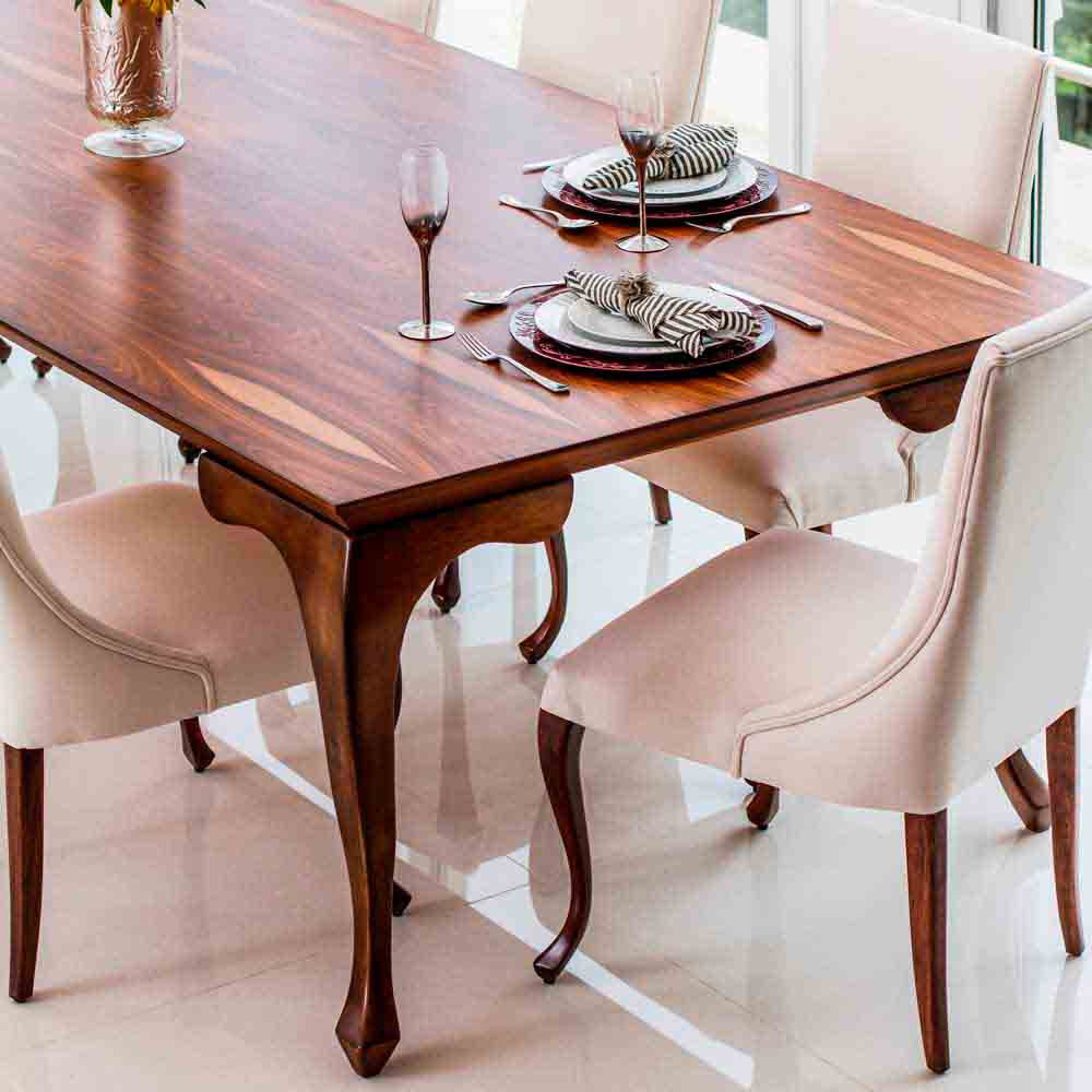 Cadeira Luce Luis XV Madeira Maciça Design Clássico Avi Móveis