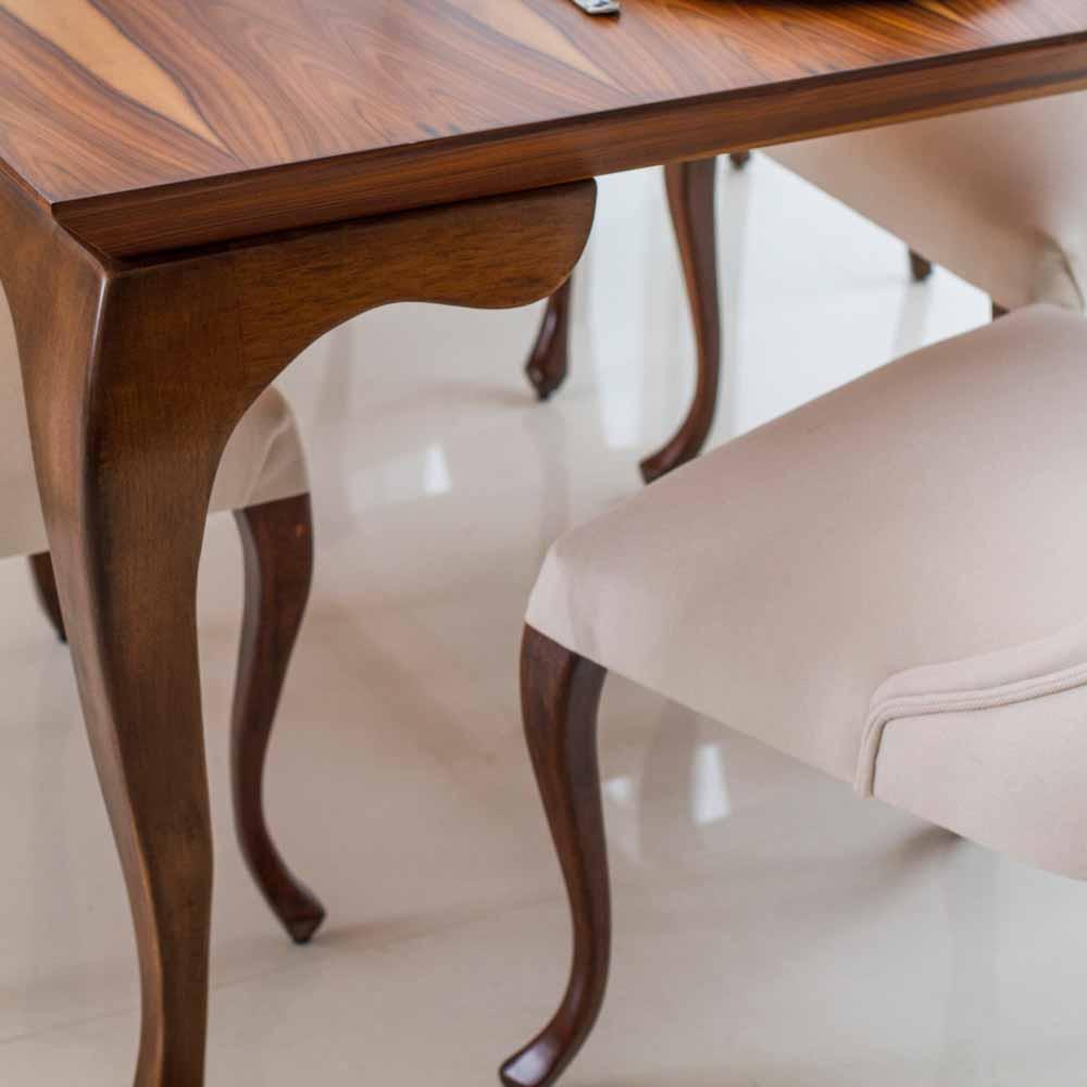 Mesa de Jantar Luce Madeira Maciça Design Clássico Avi Móveis