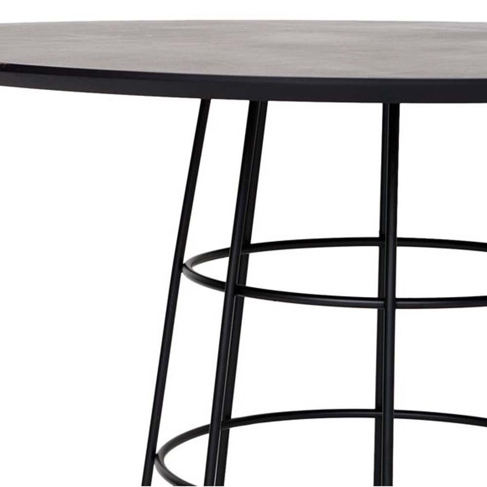 Mesa de Jantar Soul Tampo MDF Base Aço Carbono Design Industrial e Minimalista