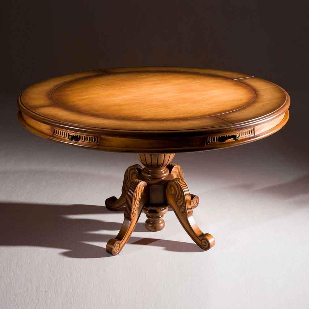 Mesa de Jogos Luxo Tampo Reversível Madeira Maciça Design Clássico Avi Móveis