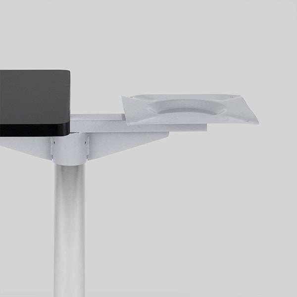 Mesa Dupla Flat Base Quadrada Estrutura Aço Carbono Tubular Design by Studio Artesian