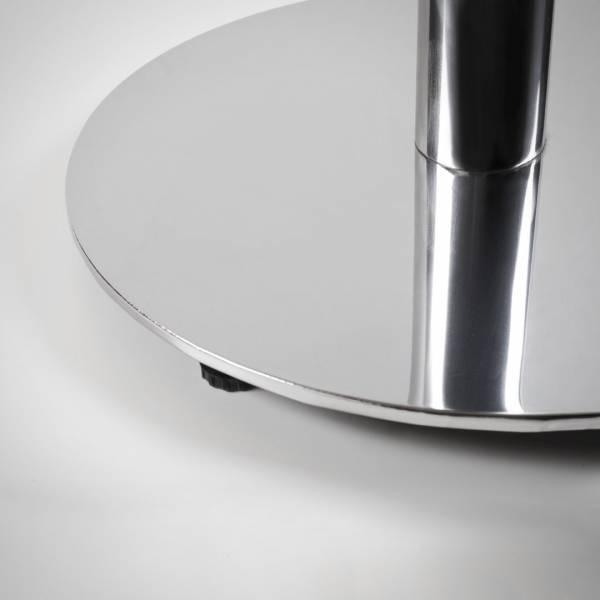 Mesa Flat Quadrada Base Redonda Estrutura Aço Tubular Design by Studio Artesian