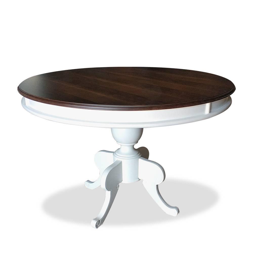 mesa francesa redonda laca com imbuia