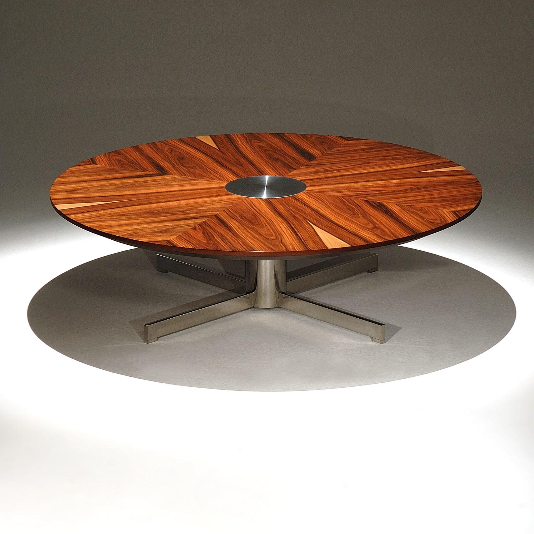 Mesa de Centro Anne Estrutura Aço Inox Studio Mais Design by Silviane Nicolato