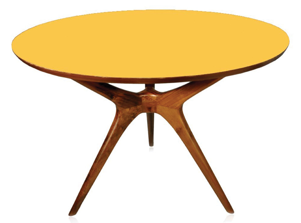 Mesa Vintage Imbuia formica amarela