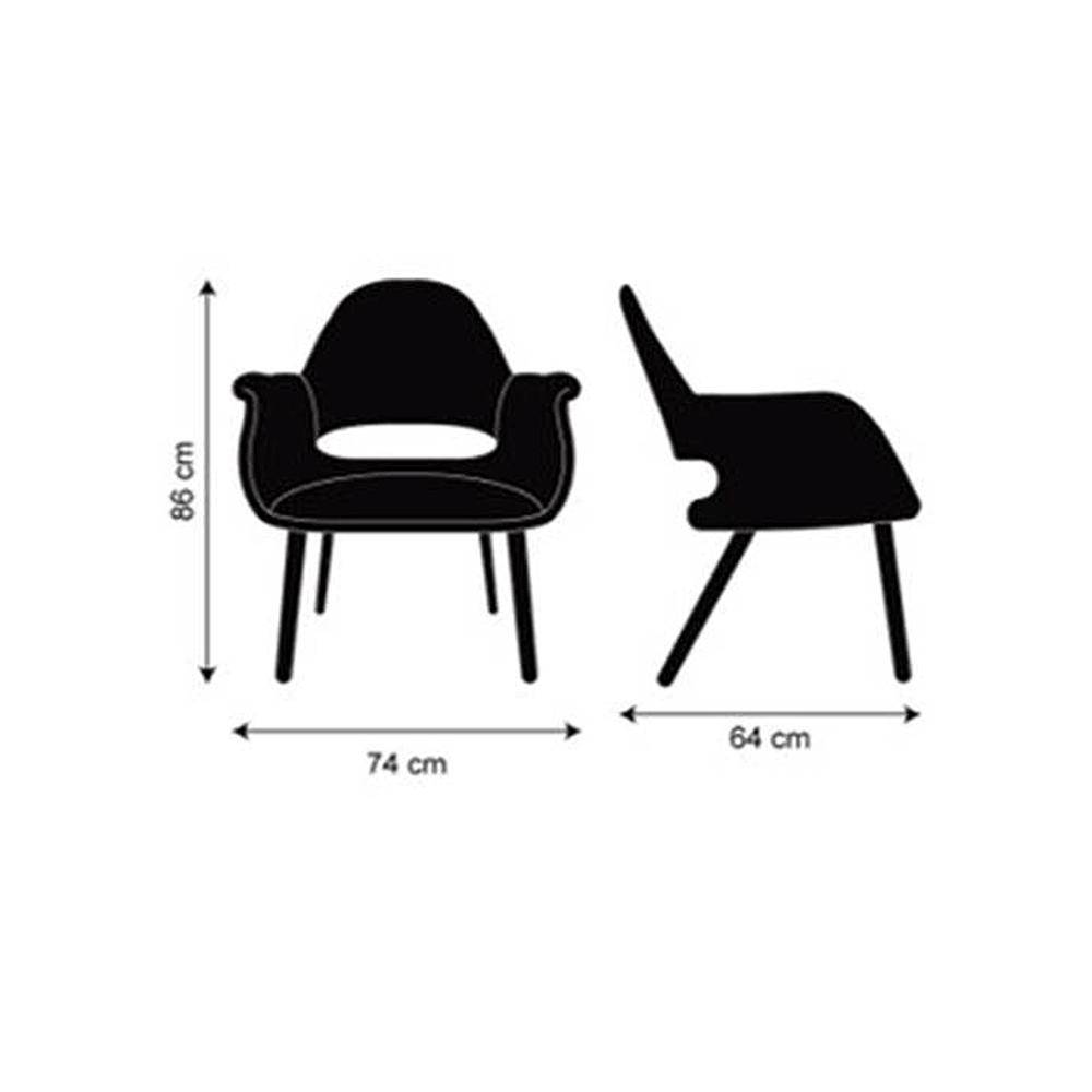 Cadeira Organic Chair Design Charles e Ray Eames