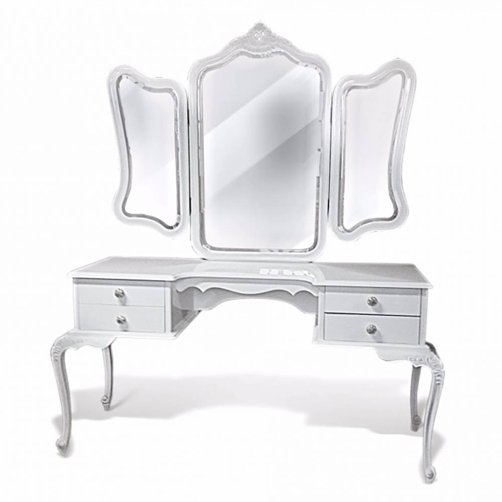 Penteadeira Luis XV em Madeira com Pinturas Especiais e com Espelho
