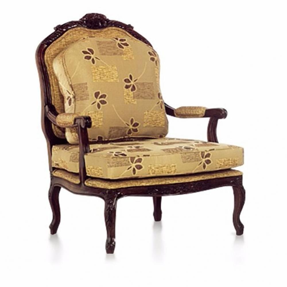Poltrona Imperial Entalhada em Madeira com Pinturas e Tecidos Personalizáveis