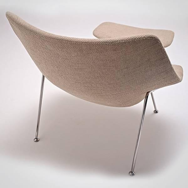 Poltrona Oyster Estrutura Aço Inox Design by Pierre Paulin