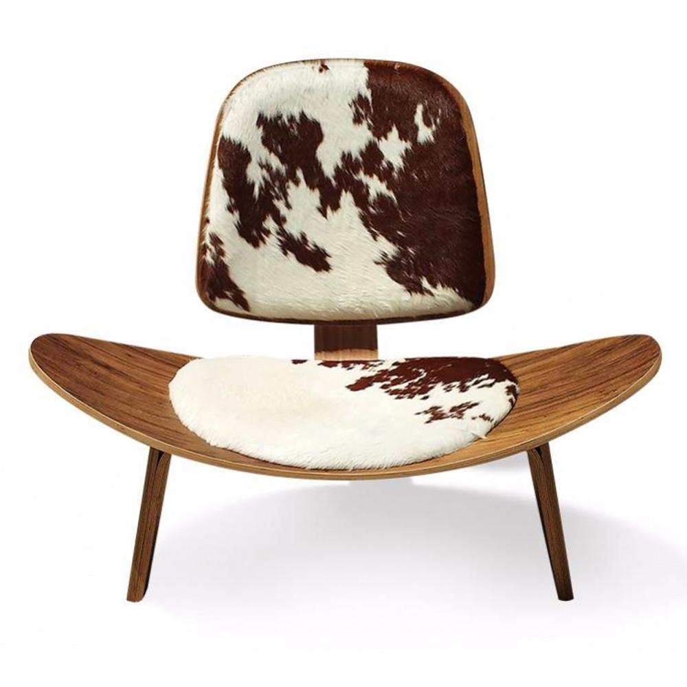 Poltrona Shell em Imbuia Peça do Designer Hans Wegner c/ Tecidos Personalizados