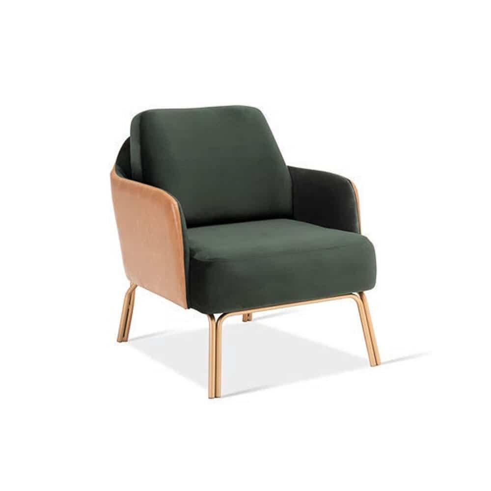 Poltrona Zara Base Aço Carbono Pintado Design Atemporal e Moderno Design by YE Design