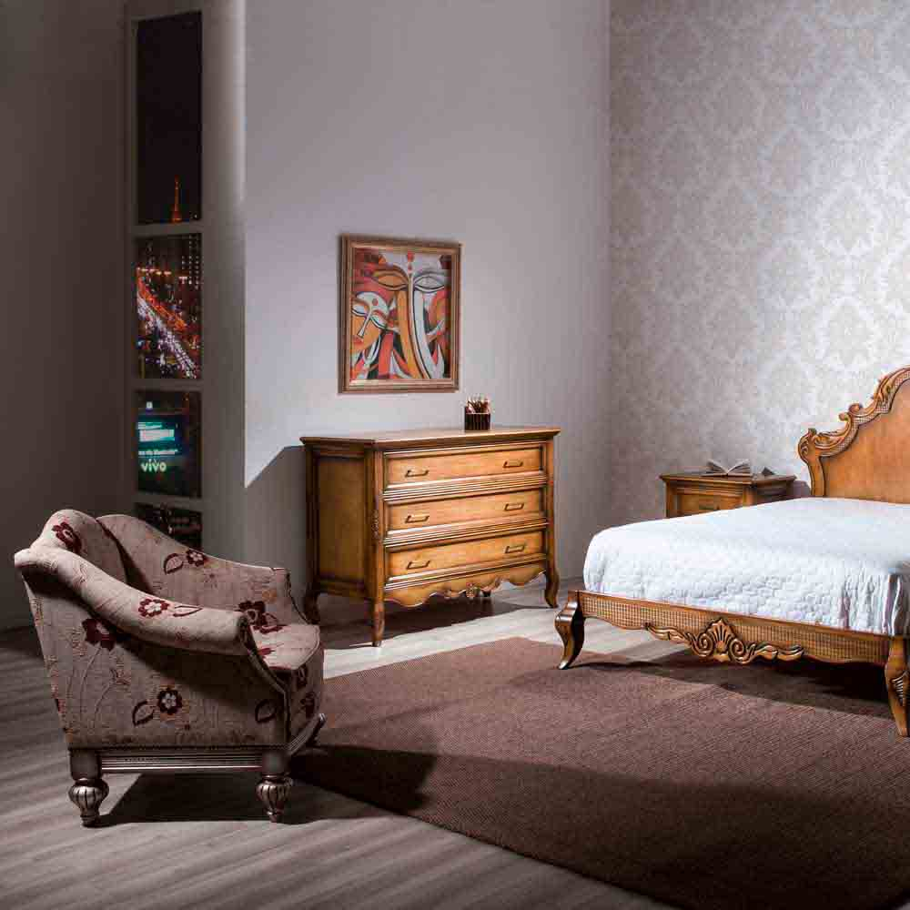 Cômoda Luxo Madeira Maciça Design Clássico Avi Móveis