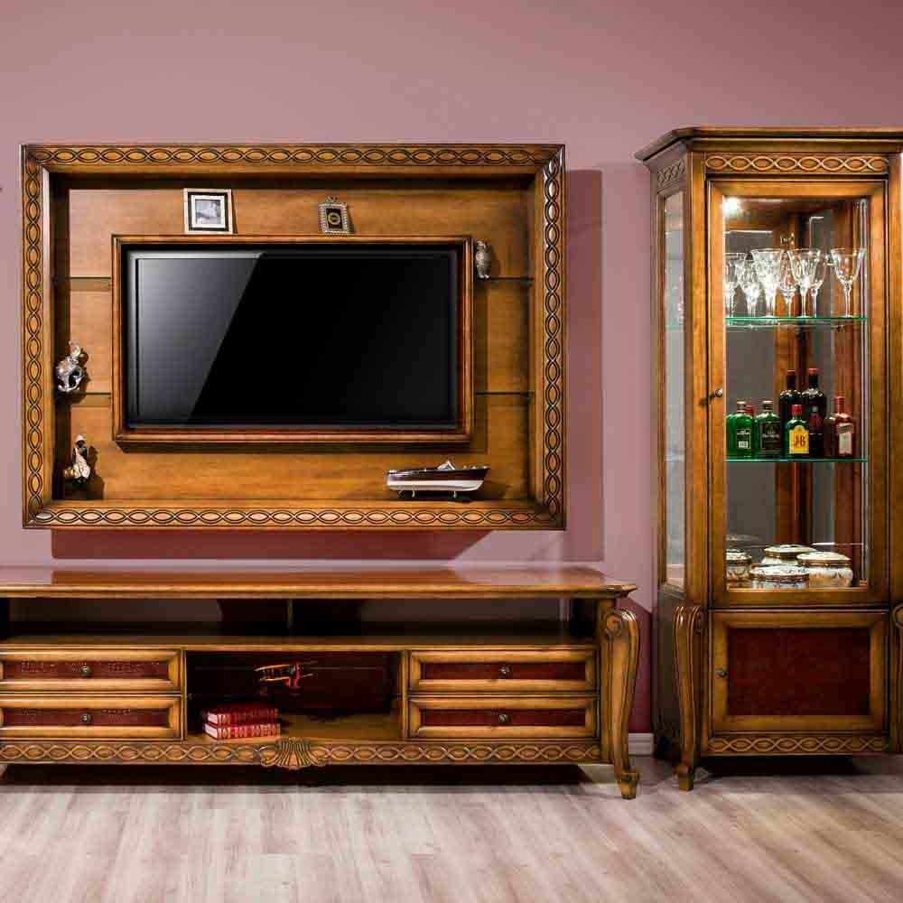 Rack de Som Hillux Madeira Maciça Design Clássico Avi Móveis