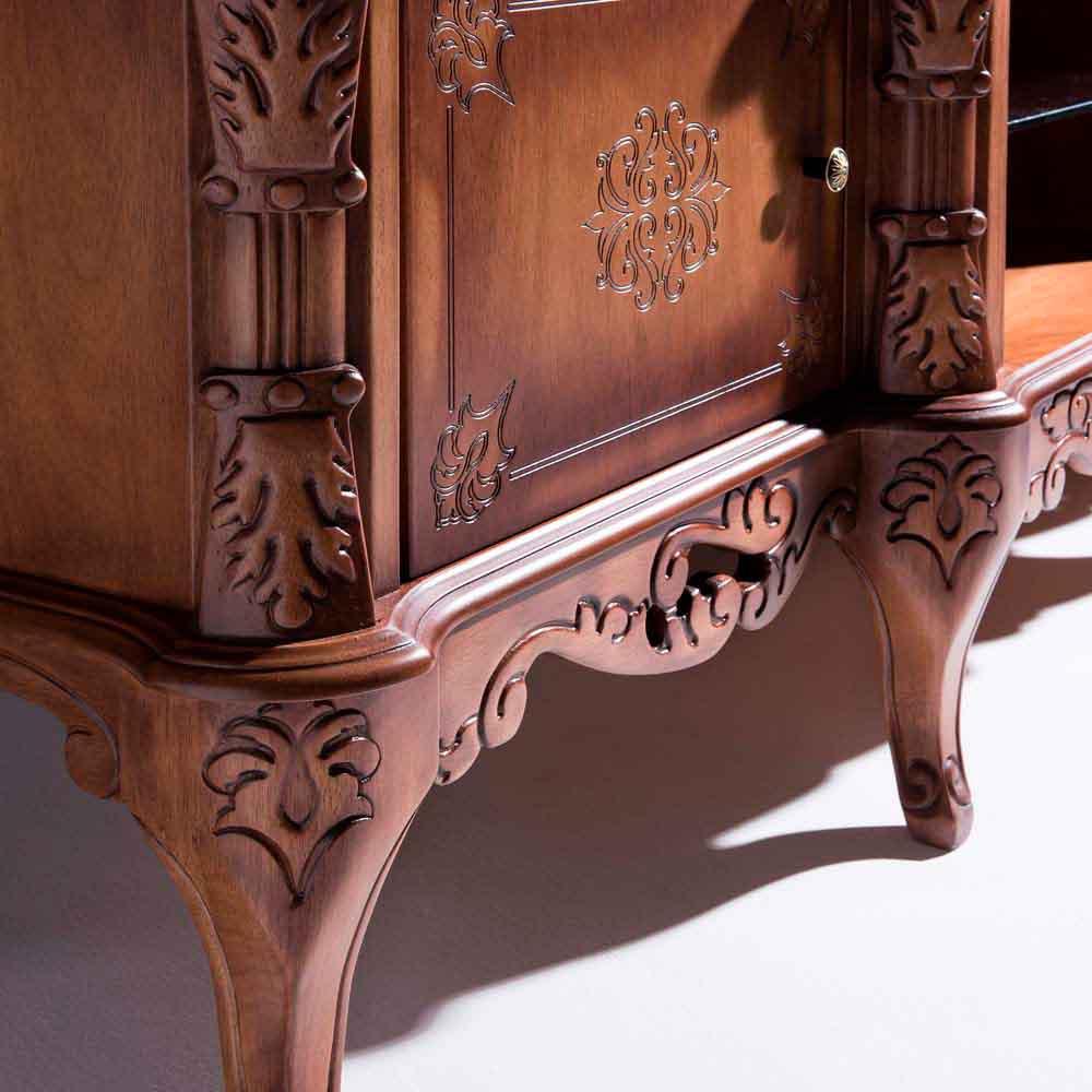 Rack de Som Premier Madeira Maciça Design Clássico Avi Móveis