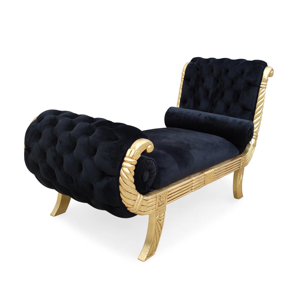 Recamier de Luxo Madeira Maciça Design de Luxo Peça Artesanal