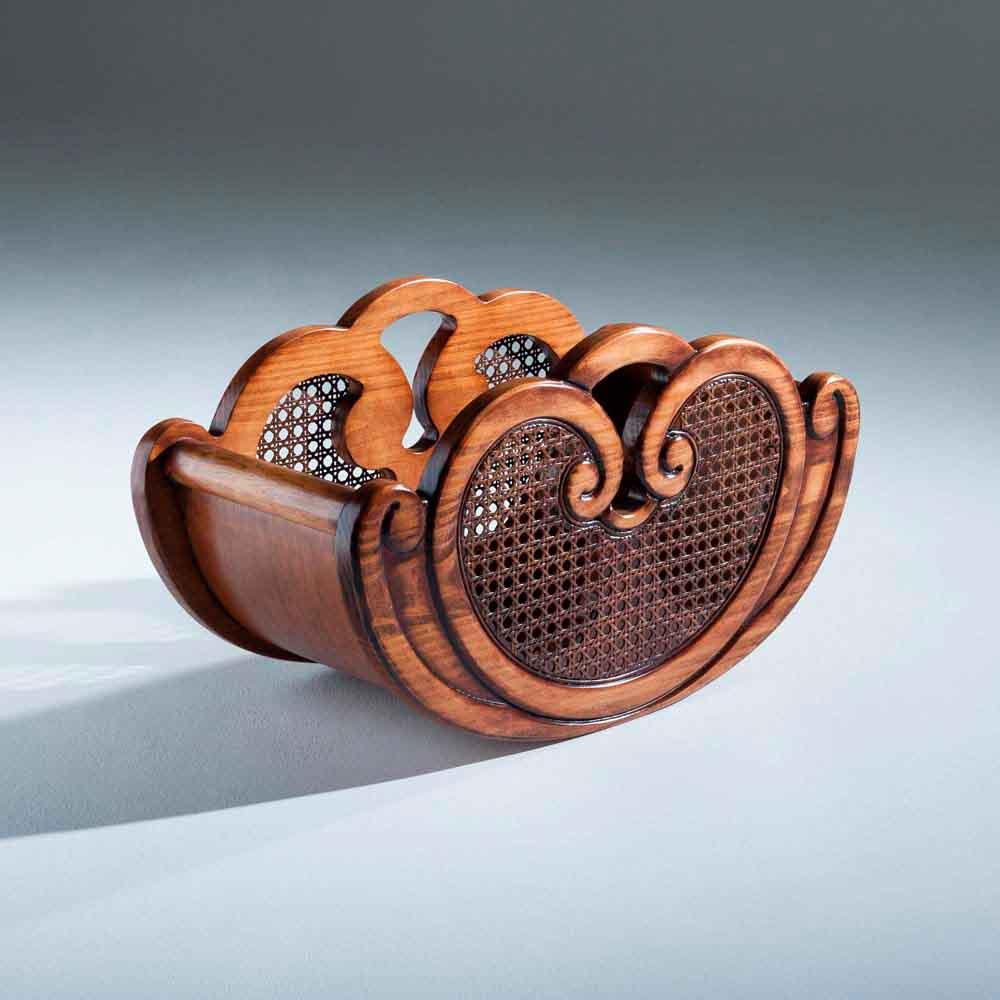 Revisteiro Inspiração Madeira Maciça Design Clássico Avi Móveis