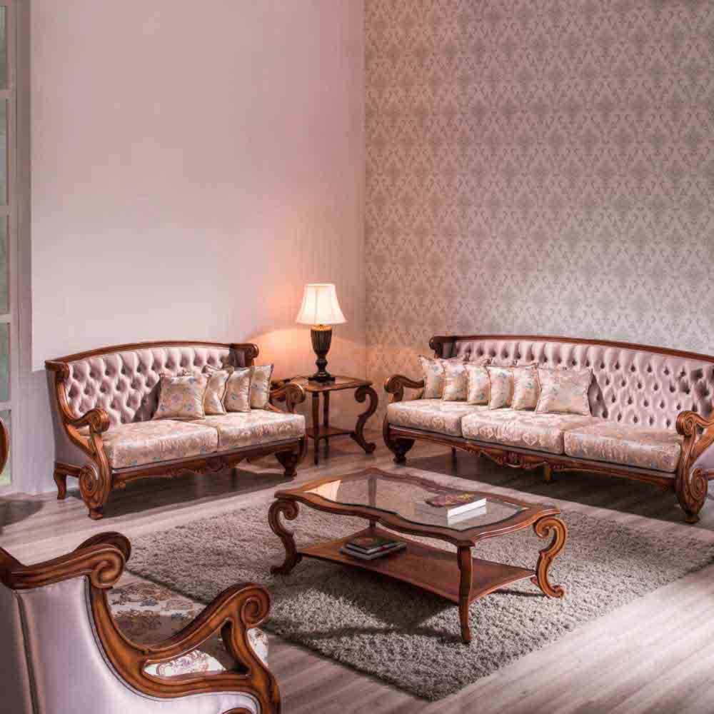 Sofá Premier 2 Lugares Madeira Maciça Design Clássico Avi Móveis
