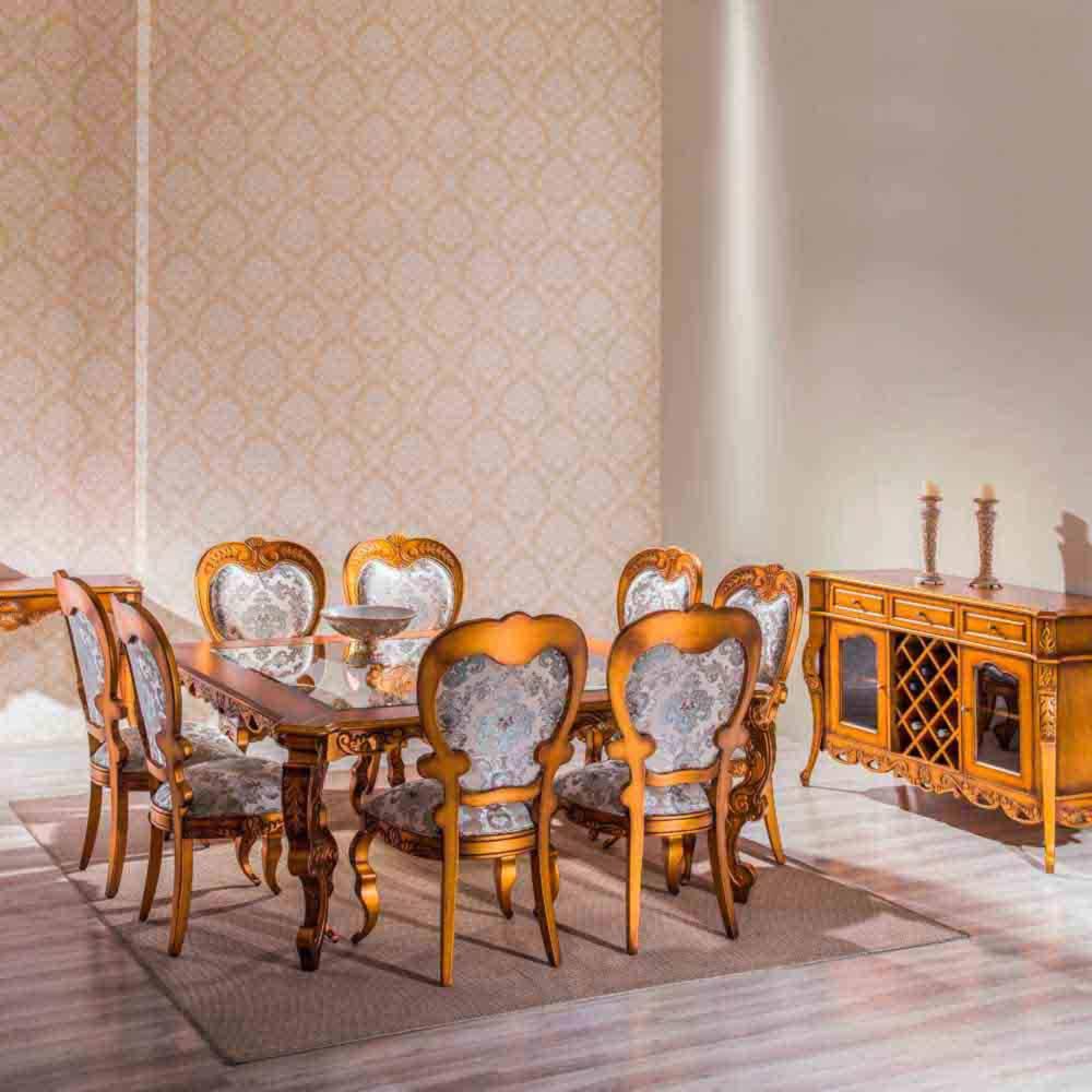 Mesa de Jantar Premier Quadrada Madeira Maciça Design Clássico Avi Móveis