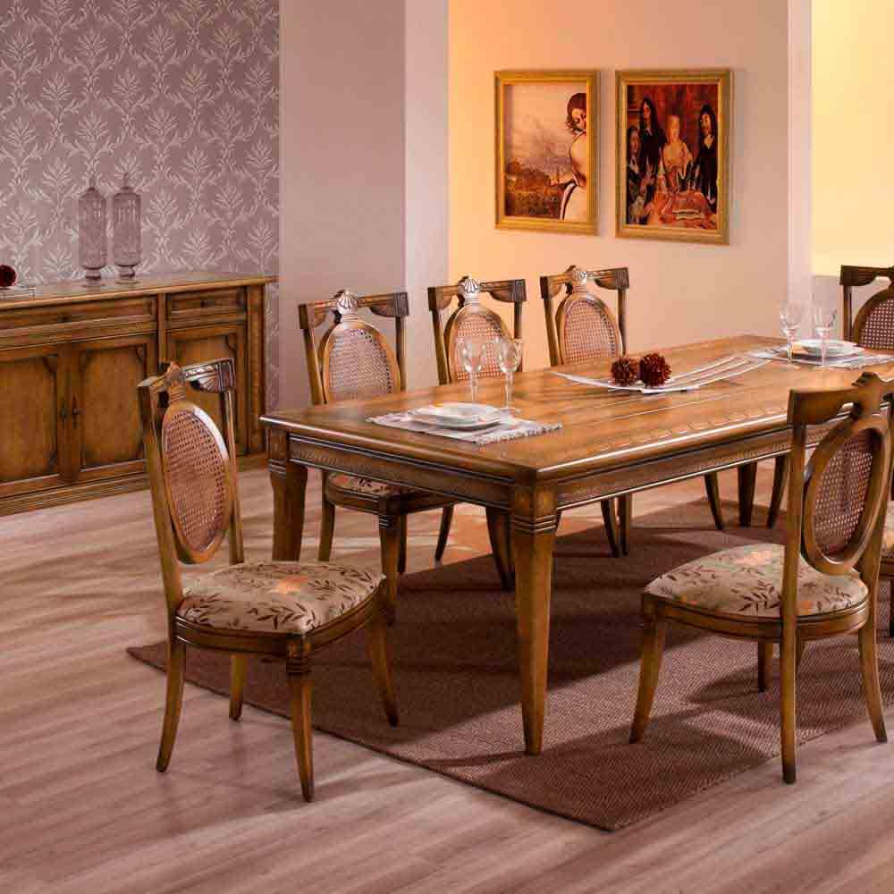Mesa de Jantar Fênix Madeira Maciça Design Clássico Avi Móveis