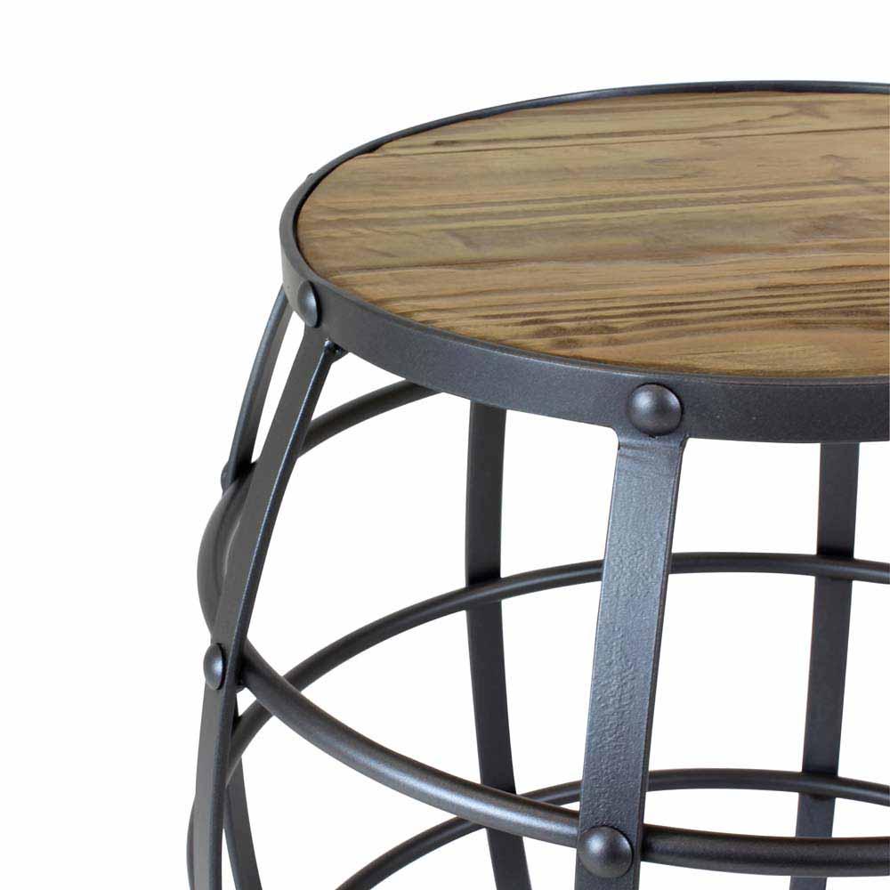 Seat Garden Rome Estrutura Aço Carbono Preto Design Industrial e Minimalista