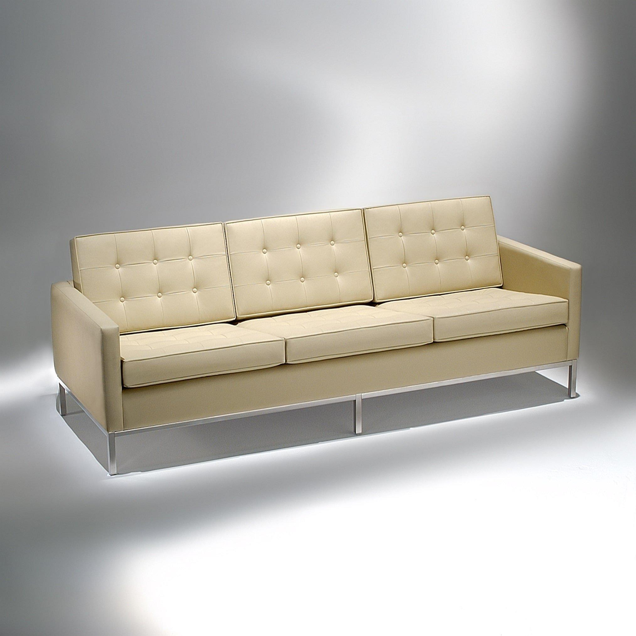 Sofá FK1 Estrutura Aço Inox Studio Mais Design by Florence Knoll