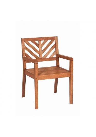 Cadeira com Braços Madeira Maciça Mestra Móveis Linha Eko