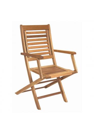 Cadeira Dobrável Parati com Braços Madeira Maciça Mestra Móveis Linha Madeira