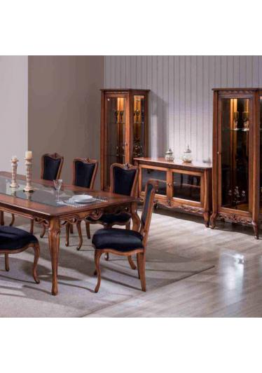 Cristaleira Allegra Torre Decorativa Madeira Maciça Design Clássico Avi Móveis