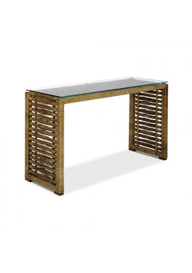 Aparador Coari Junco Envelhecido Estrutura Alumínio Eco Friendly Design Scaburi
