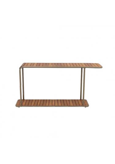 Aparador Patio para Área Externa Tampo Deck Cumaru Estrutura Alumínio Eco Friendly Design Scaburi