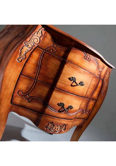 Arca Inspiração Mini Cômoda Bombê Madeira Maciça Design Clássico Avi Móveis