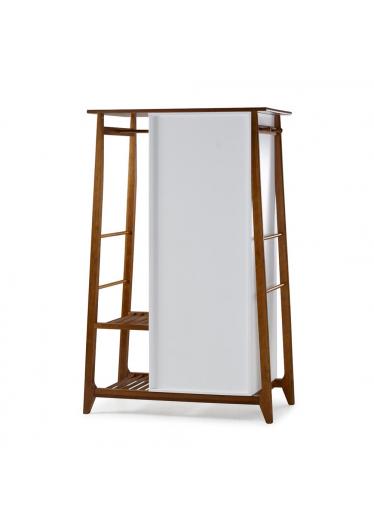 Armário Multiuso Stoka 2 Portas Madeira Maciça e MDF com Espelho Máxima Móveis Design by Designo Design