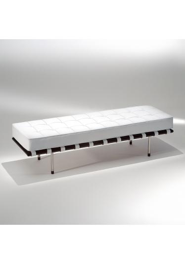 Banco Capri Estrutura Madeira e Aço Inox Design by Studio Mais