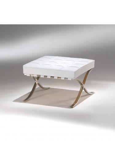 Banqueta Barcelona Estrutura Aço Inox Studio Mais Design by Mies van der Rohe