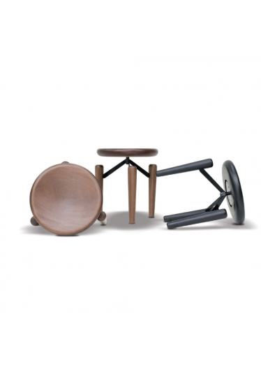 Banqueta Tripod Estilo Minimalista Destack Móveis Design by Mauricio Bomfim