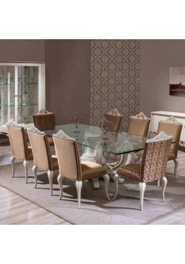 Mesa de Jantar Bella Madeira Maciça Design Clássico Avi Móveis