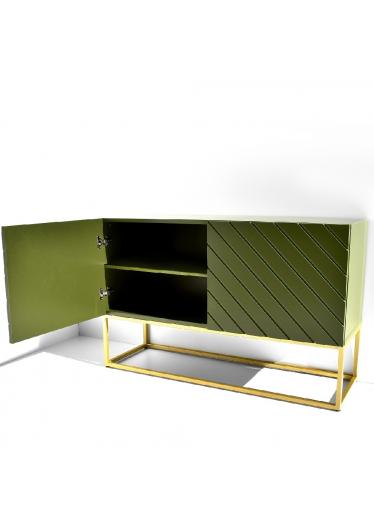 Buffet Alfredo Coleção Industrial Base Aço Carbono Tremarin Design by Studio Marko20