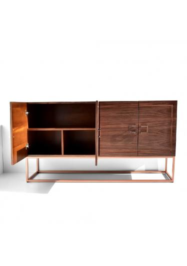 Buffet Loris Coleção Industrial Base Aço Carbono Tremarin Design by Studio Marko20
