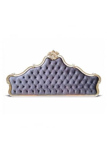 Cabeceira Imperial em Folha de Prata Tam Queen e King com Tecidos Personalizados