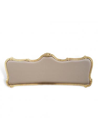 Cabeceira de Luxo em Folha e Ouro Tam Casal, Queen e King c/ Tecidos Personalizados