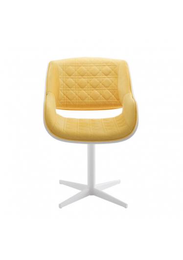 Cadeira Giratória Allana Matelassê Base Aço Inox Pintado Star Mobile