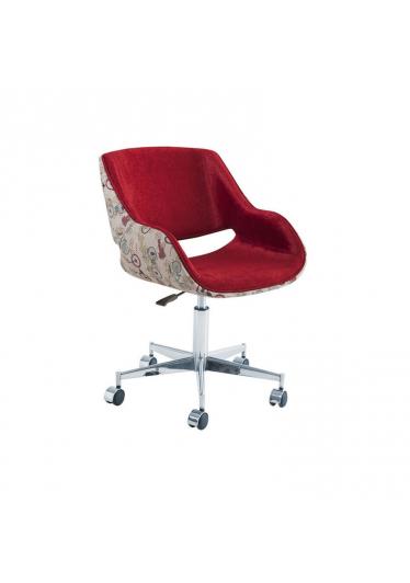Cadeira Giratória Allana Regulagem de Altura Rodízios Base Aço Inox Star Mobile