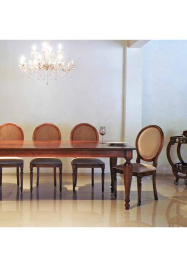 Mesa de Jantar Aurora Madeira Maciça Design Clássico Avi Móveis