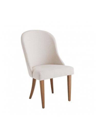 Cadeira Barbara Estofada Base Madeira Imbuia Star Mobile
