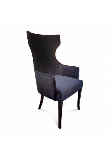 Cadeira Bergere Lisa em Madeira Maciça com Tecidos Personalizáveis